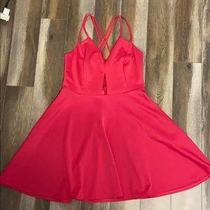 Hot pink fashion to figure dress